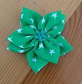Ozdoby do vlasov - Zelený kvet - 12134145_