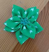 Ozdoby do vlasov - Zelený kvet - 12134148_