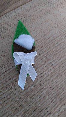 Pierka - Pierko biela ružička z filcu - 12134093_