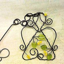 Dekorácie - Drátovaná andělka zelenožlutá - 12131833_