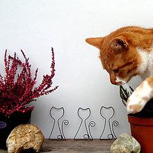 Materiál ručne robený - Kočička - obrys,tvar - 12131837_