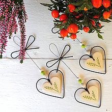 Dekorácie - Srdeční záležitosti - srdce se zelenými klásky - 12131841_