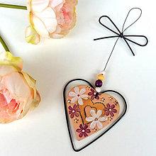 Dekorácie - Srdeční záležitosti - srdíčko z lásky dané - 12131844_