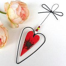 Dekorácie - Srdeční záležitosti - srdíčko z lásky dané - 12131848_