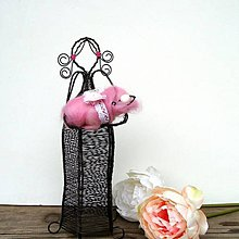 Dekorácie - Drátovaná maminka s miminkem v plstěné peřince - 12131858_