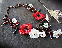 S vášňou- náhrdelník so sklenenými kvetmi