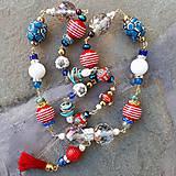 Náhrdelníky - Námornícka nálada- dlhý náhrdelník - 12135218_