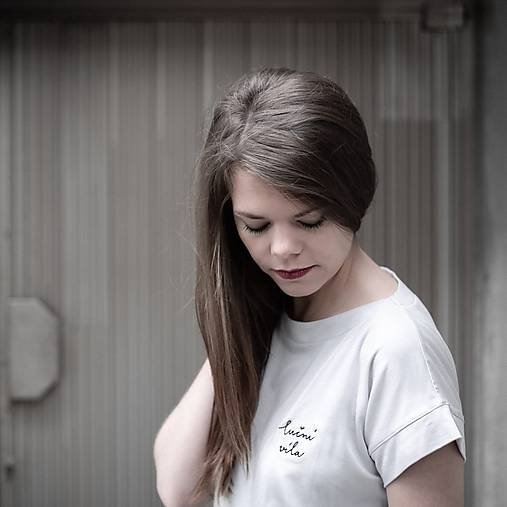 Tričká - Tričko Tencel White Lúčna Víla - 12138047_