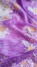 Šály - Šál hodvábny - lila abstrakt - 12137569_