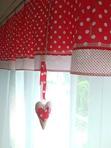 Úžitkový textil - Záclona červená - 12138746_