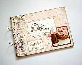 Papiernictvo - Svadobný fotoalbum * kniha hostí * album A4 - 12136973_