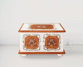 Nábytok - Maľovaná svadobná truhlica II (rôzne veľkosti) - 12135714_