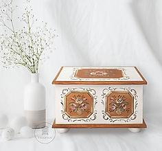 Nábytok - Maľovaná svadobná truhlica II (rôzne veľkosti) - 12136598_