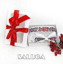 Doplnky - Darčekový balíček - kazeta - pre pár - folklórny opasok + motýlik - 12137422_