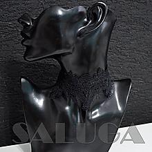 Náhrdelníky - Choker - náhrdelník - čierny - paličkový - 12137452_