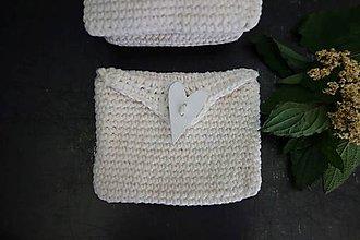 Taštičky - ľanová darčeková taštička na bylinky/semienka - 12137287_