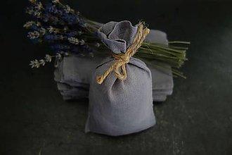 Taštičky - ľanové vrecúško na bylinky - 12137352_
