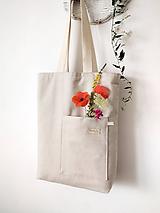 Veľké tašky - Taška natur - 12136081_