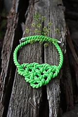 Neónový zelený náhrdelník