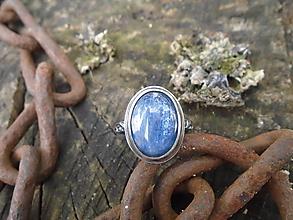 Prstene - Strieborny prsteň Ag925 Kyanit - 12137084_