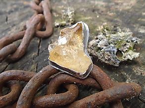 Prstene - Strieborny prsteň Ag925 Citrín - 12137920_