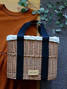 Kabelky - Prútená kabelka do ruky N°3 (Prútená kabelka do ruky N°3 svetlý ľan) - 12137176_