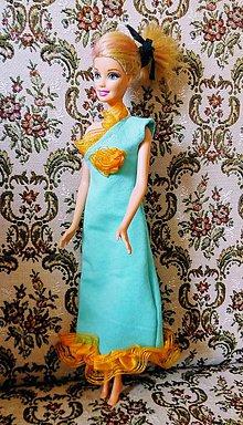 Hračky - Šaty s čipkou na rameno pre BÁRBIE - 12138086_