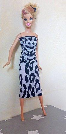 Hračky - Šaty leopardieho vzoru pre BÁRBIE - 12138130_