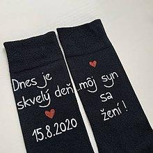 Obuv - Maľované ponožky pre (otca ženícha) - 12138978_