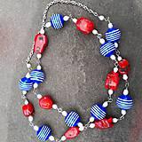 Náhrdelníky - Koralová pohoda- dlhý náhrdelník - 12135941_