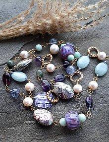 Náhrdelníky - Premenlivá-náhrdelník s paua mušľami - 12138750_