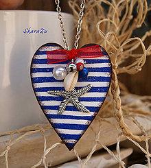 Náhrdelníky - Srdce pre námorníka - 12138088_