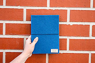Papiernictvo - A5 zápisník s čistými stranami - royal blue - 12137326_