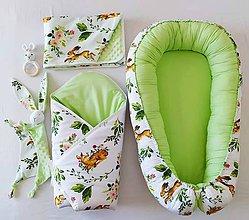 Textil - Set pre bábätko -Zvieratká v zelenom - 12141737_