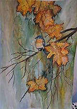 Obrazy - Volanie jesene (akvarel) - 12139257_