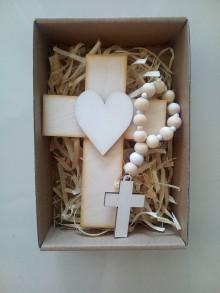 Dekorácie - Set krížik a ruženec - 12139929_