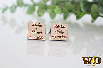Šperky - Manžetové gombíky pre ženícha - 12139634_