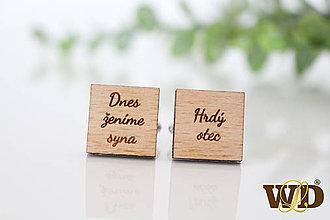 Šperky - Manžetové gombíky pre svadobného otca - 12139637_