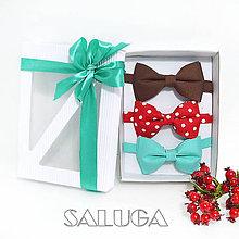 Doplnky - Darčekový balíček - kazeta - set motýlikov - 12141369_