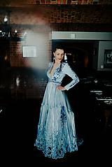 Šaty - Svetlo modré šaty Poľana - 12140941_