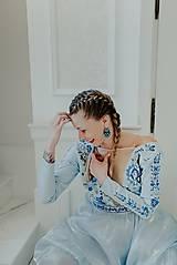Šaty - Svetlo modré šaty Poľana - 12140942_