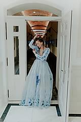 Šaty - Svetlo modré šaty Poľana - 12140943_