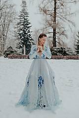 Šaty - Svetlo modré šaty Poľana - 12140945_