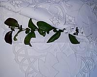 Úžitkový textil - Richellieu, Kvety a listy,biela, 40 x 110 cm - 12140337_