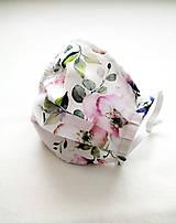 Rúška - Tenké rúško bavlnené, rozkvet - 12140806_