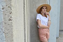 Nohavice - Bielo ružové kraťasy - 12139933_