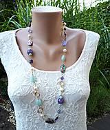 Náhrdelníky - Premenlivá-náhrdelník s paua mušľami - 12140089_