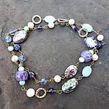 Náhrdelníky - Premenlivá-náhrdelník s paua mušľami - 12140091_