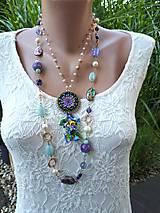 Náhrdelníky - Premenlivá-náhrdelník s paua mušľami - 12140092_