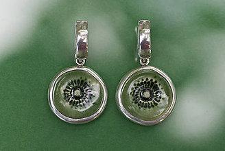 Náušnice - Náušnice s keramickými rozetami - 12140036_